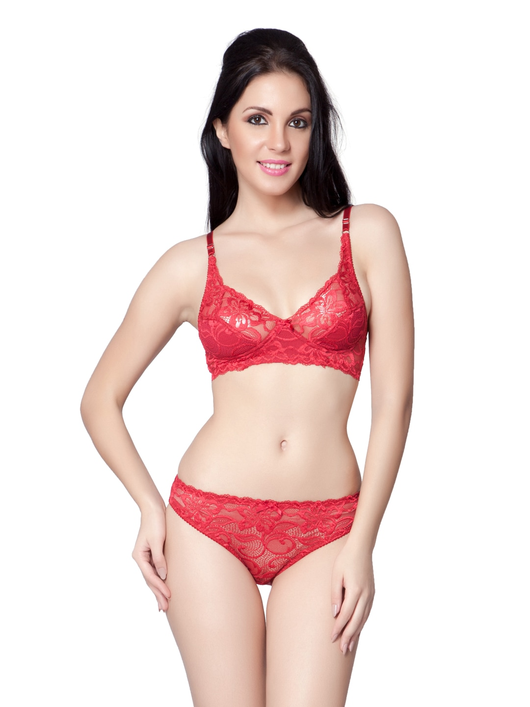 d7dc84908b Little lacy ml-06-maroon Red Lace Lingerie Set Ml 06 - Best Price in ...