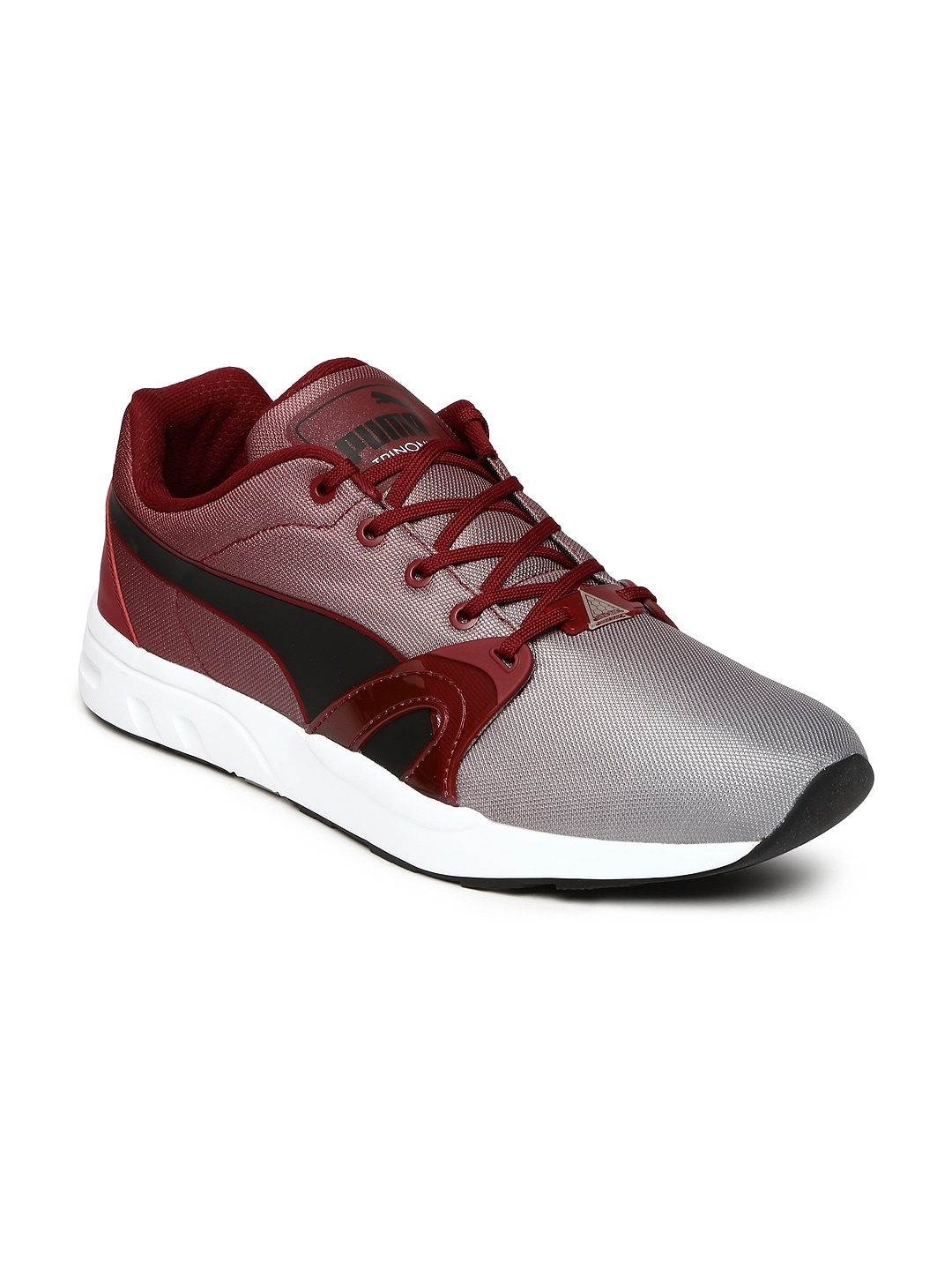 a580b916386e Puma 35971303 Men Grey And Maroon Xt S Blur Casual Shoes- Price in India