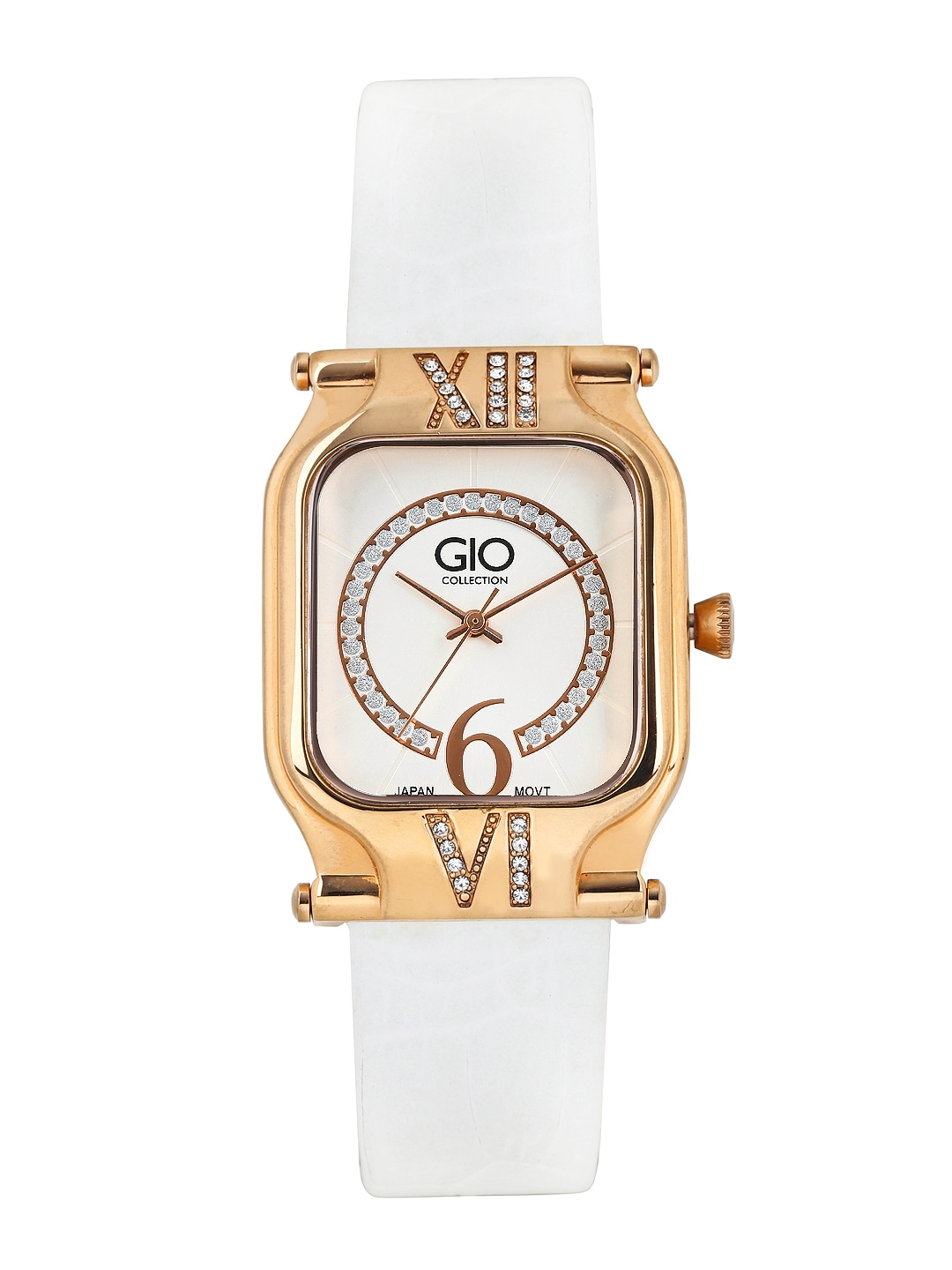 GIO COLLECTION Women Off-White Dial Watch G0038-04 image