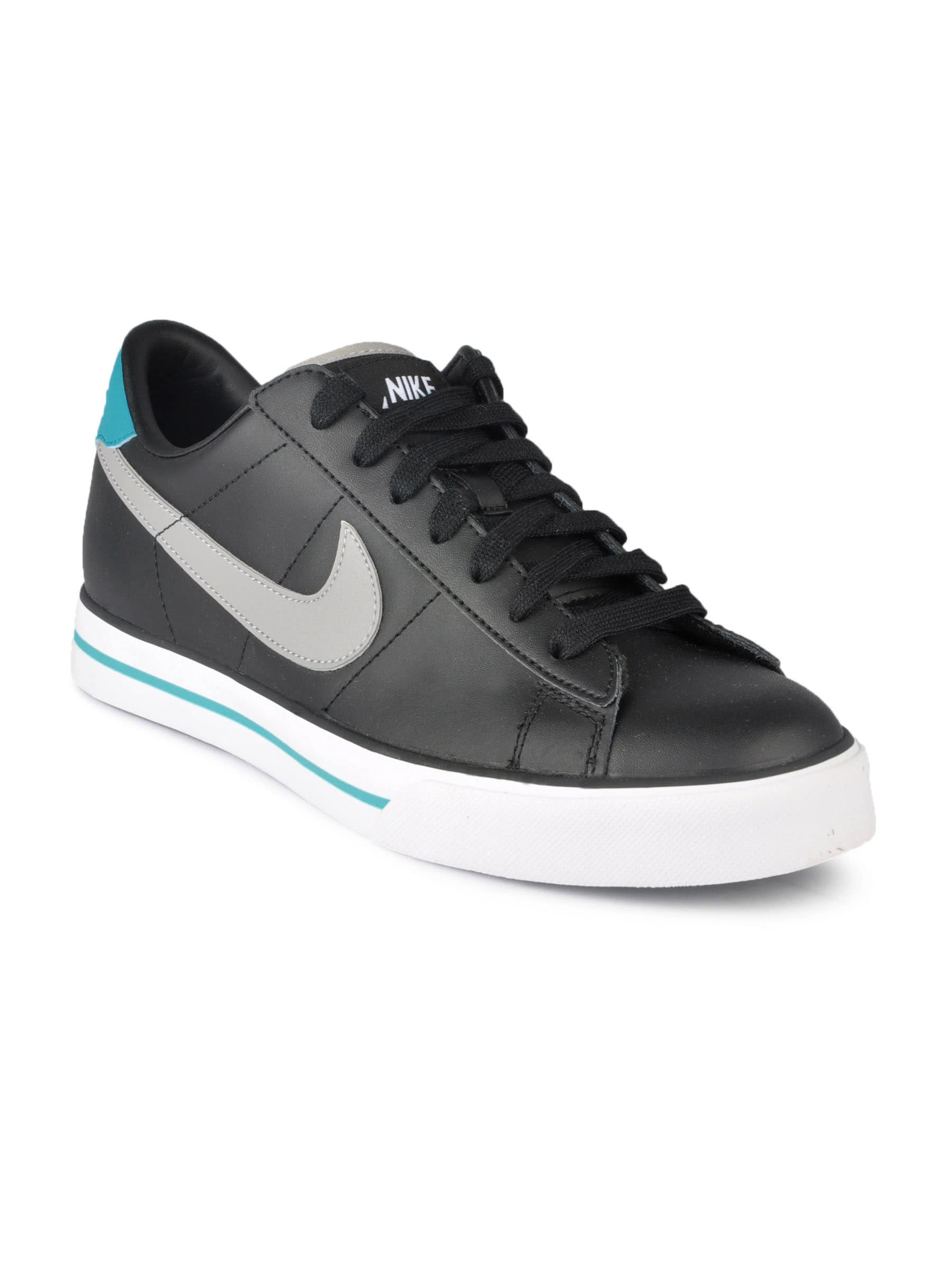 Nike 318333-033 Men Sweet Classic Leather Black Casual Shoes- Price in India bc61c35bd