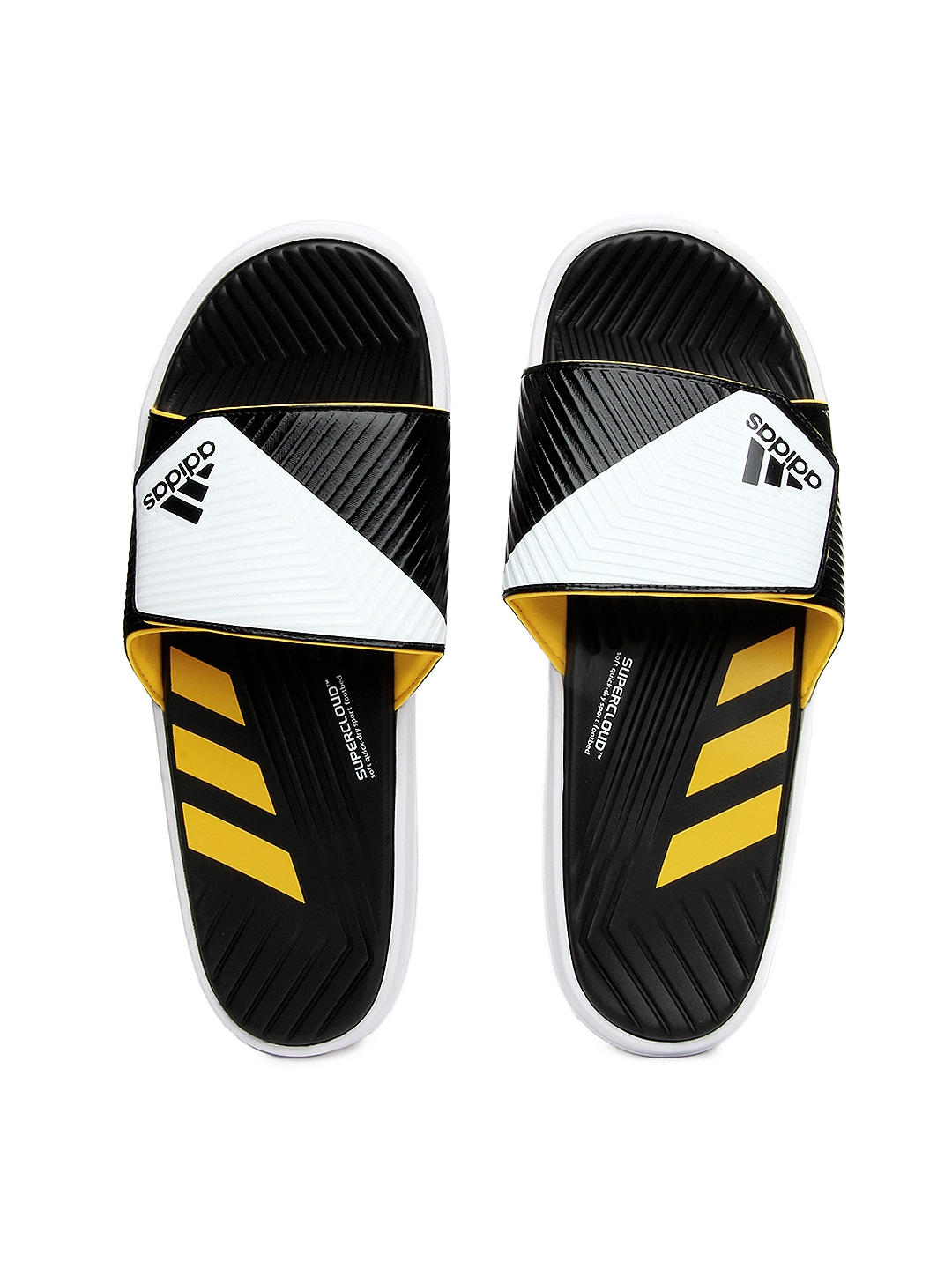 2a65b621a145dc Adidas m17931 Men Black And White Predator Slide Flip Flops- Price in India