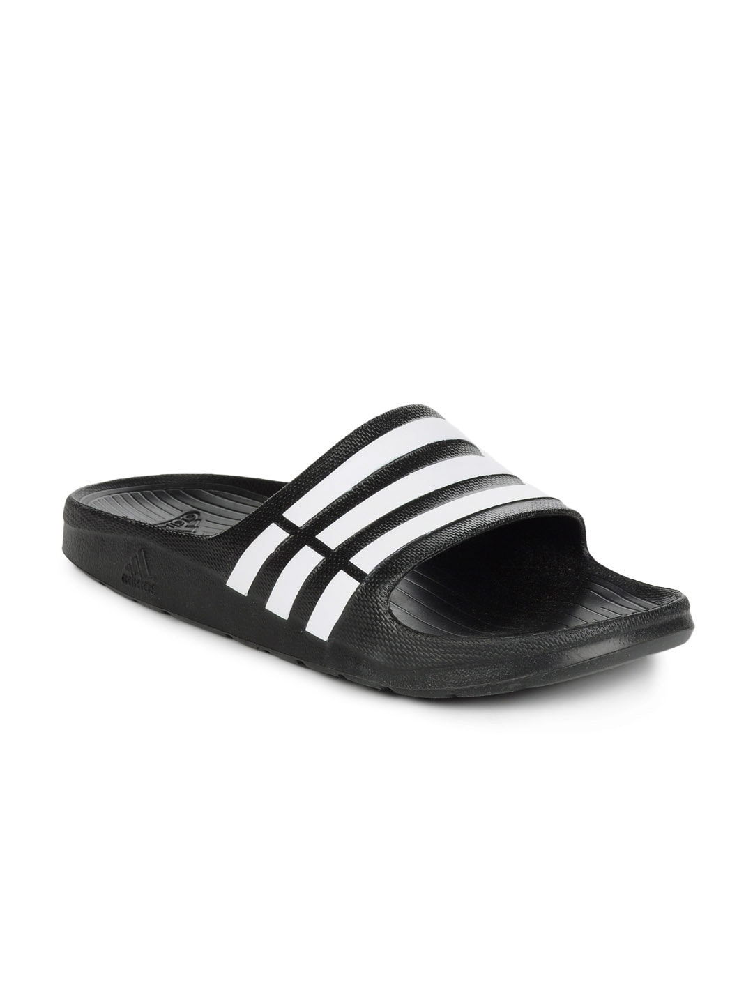 6ad938840dc4 Adidas Duramo Slide Black Flip Flops for Men online in India at Best ...