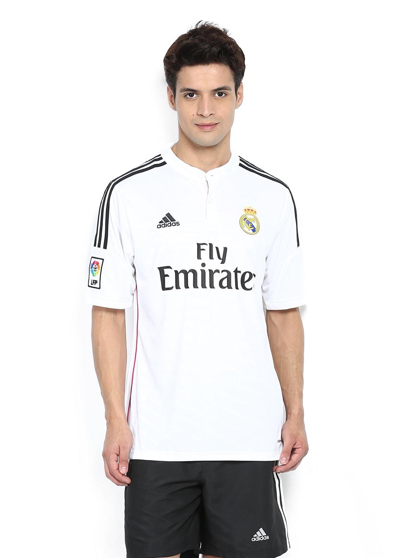 big sale c8a39 28476 Adidas f50637 Men White Real Madrid Printed Jersey T Shirt ...