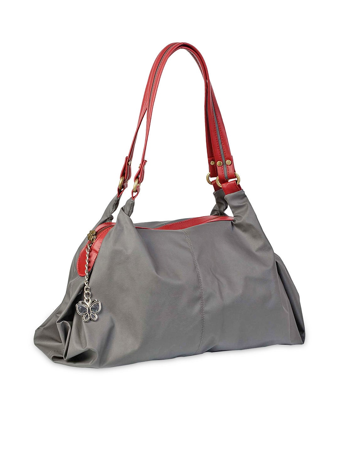 Erflies Black Cut Out Sling Bag With Chain Strap