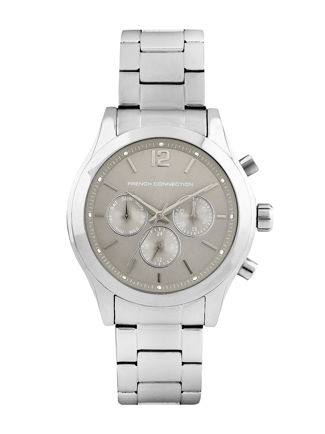 FCUK Women Silver-Toned Dial Chronograph Watch FC1144SMWJ image