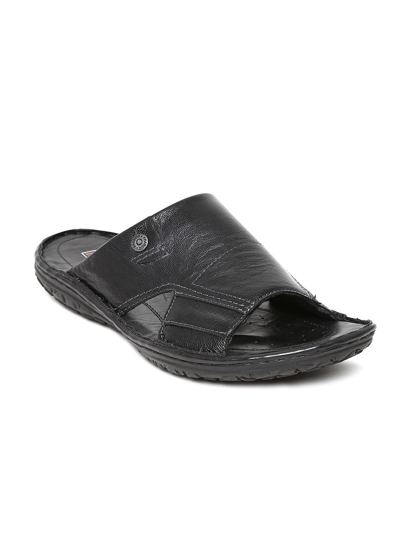 ad6b1e154ecd Franco leone 9585 Men Black Leather Sandals - Best Price in India ...