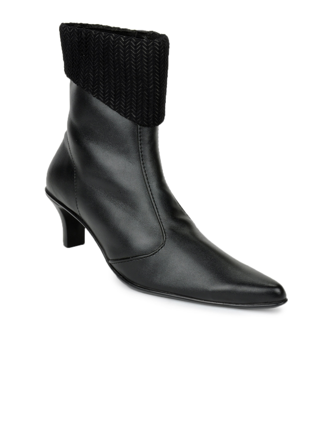 4926974698377 Inc 5 9039 Women Black Leather Boots - Best Price in India