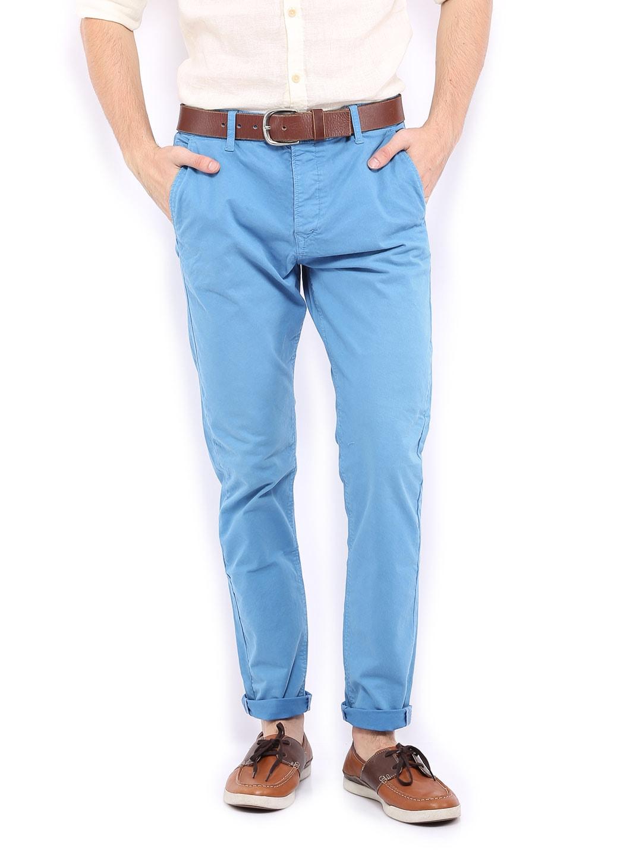 Jack & Jones Men Blue Erik Anti Fit Trousers image