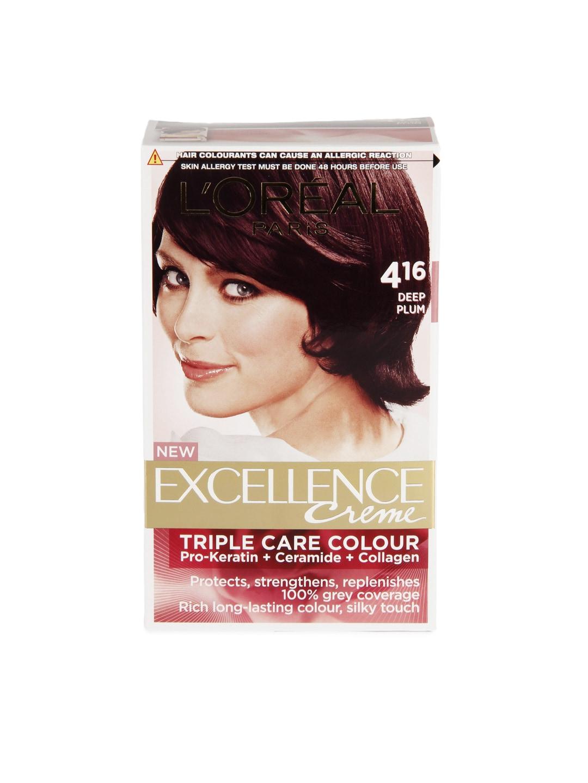 Loreal Exfir416 B0 Excellence Creme Deep Plum Hair Colour 416 Best