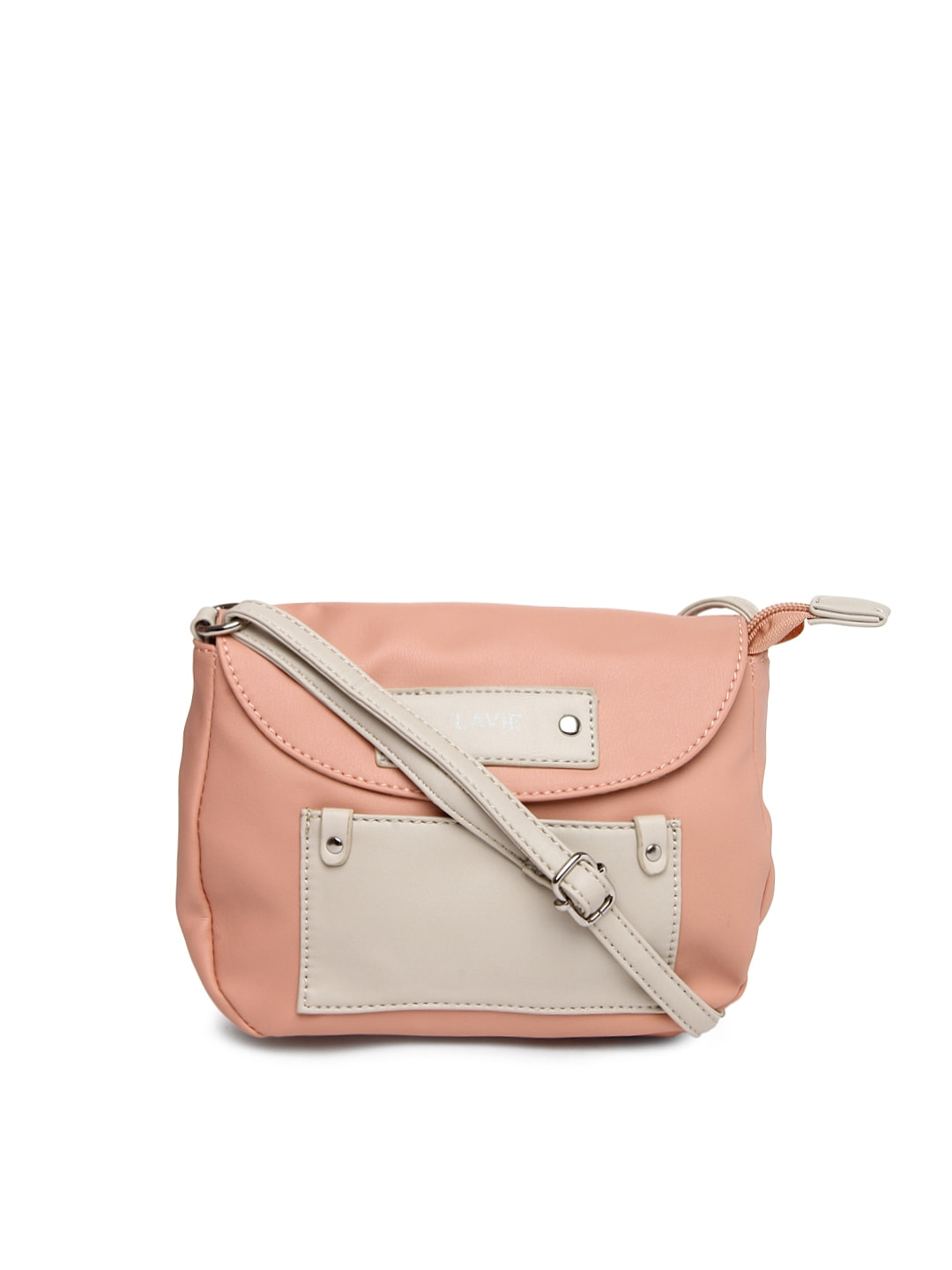 Buy Lavie Cream Coloured Sling Bag - Handbags for Women | Myntra