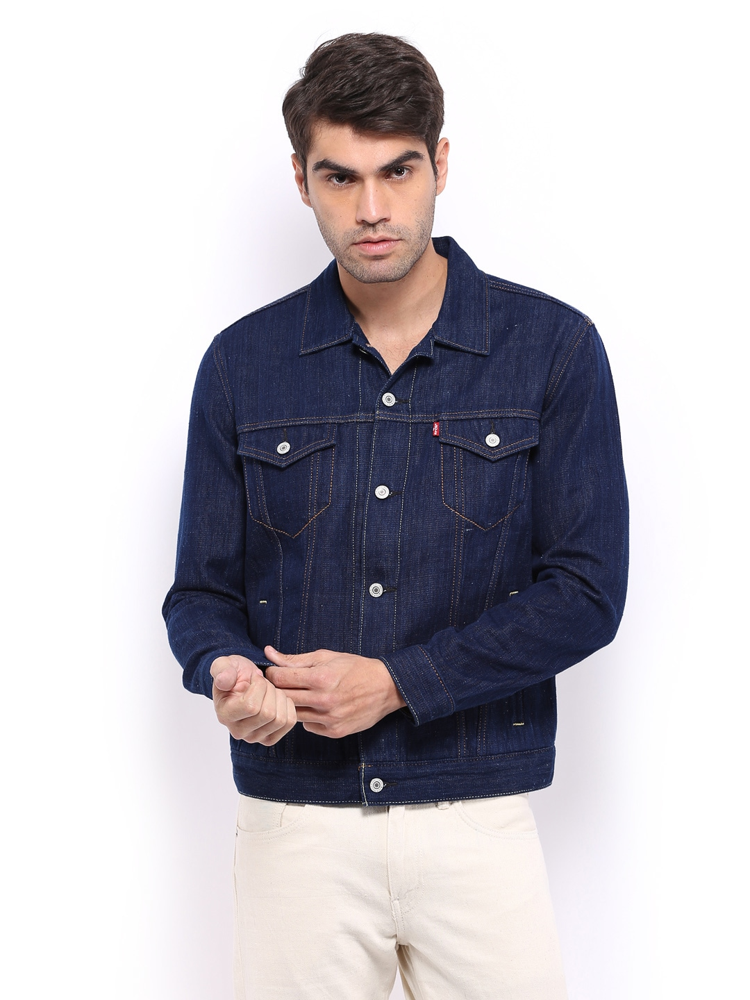 1ea32ae67dad Levis 16707-0000 Men Blue Khadi Denim Jacket - Best Price in India ...