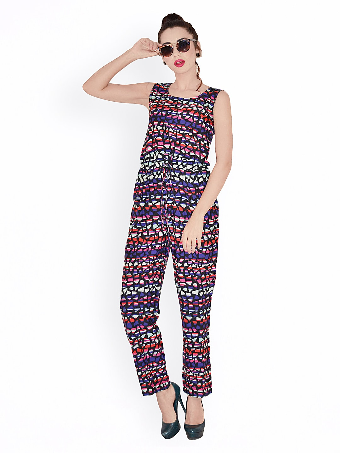 0855293f6bd Magnetic designs mdrom307 Women Multicoloured Printed Jumpsuit- Price in  India