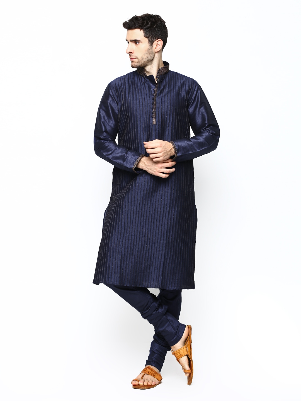 6ffadd878d Manyavar s952358-306 Men Blue Kurta Churidar - Best Price in India ...