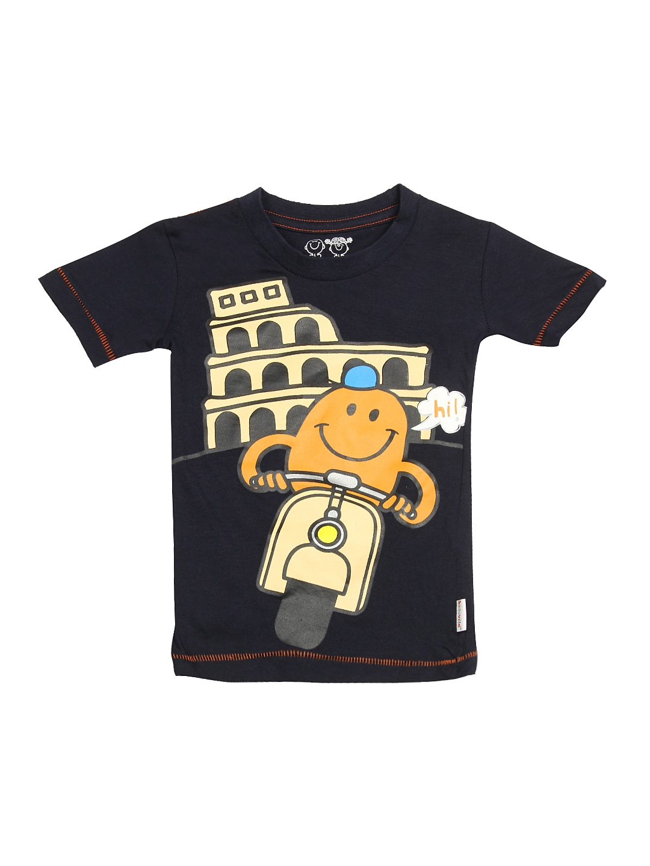 f975bfa4 Kids ville bt0cmm11 Boys Navy Mr Men Little Miss Printed T Shirt- Price in  India