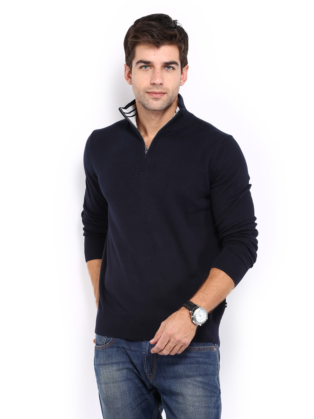 Nautica s43417,4cn Men Navy Sweater, Price in India