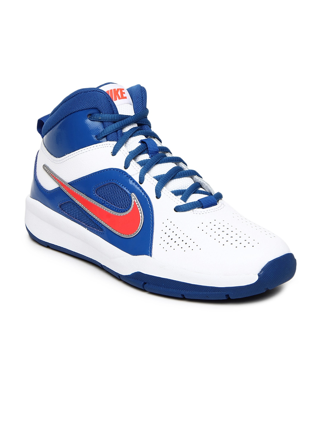 08ab08ebfd25 Nike 599187-101 Boys White And Blue Team Hustle D6 Gs Sports Shoes- Price  in India