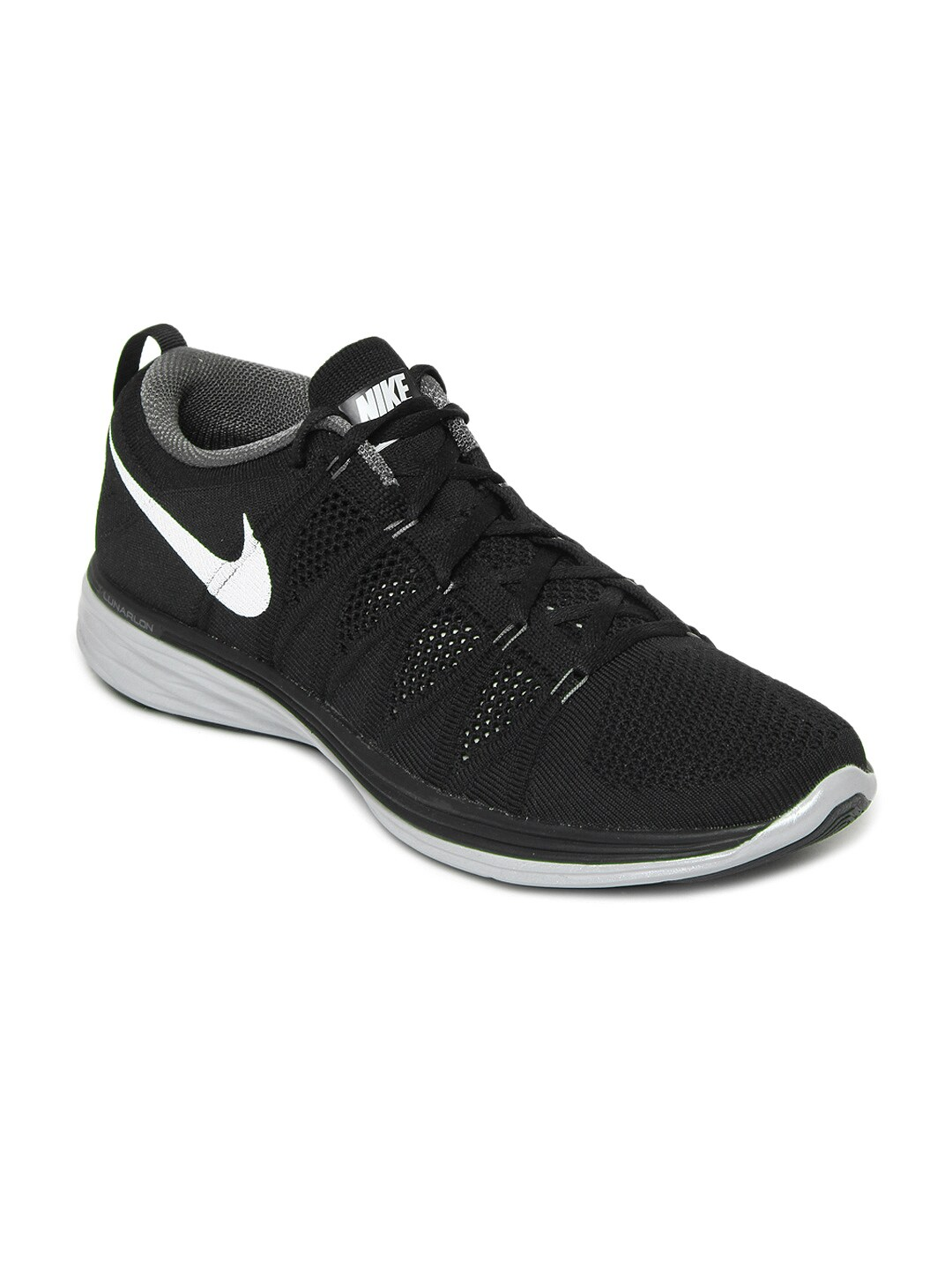 quality design e9ec2 80463 Nike 620465-011 Men Black Flyknit Lunar 2 Running Shoes- Price in India
