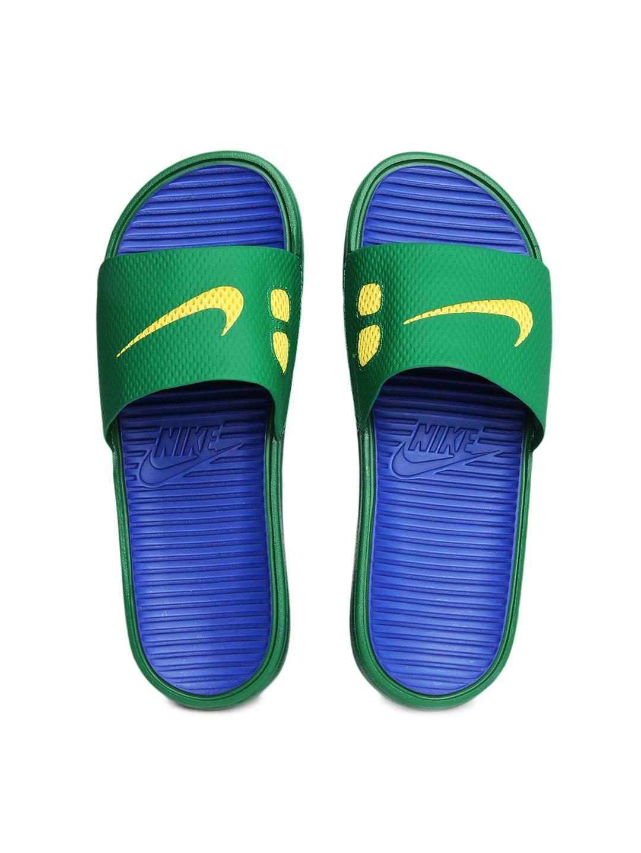 bbdb056d5c73 Nike 576427-374 Men Green Benassi Solarsoft Soccer Flip Flops- Price in  India