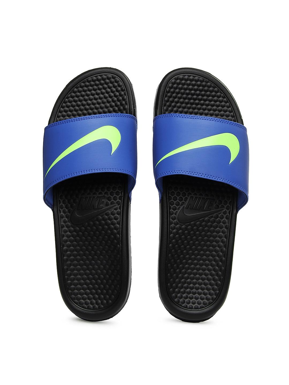 d289dc3fc Nike 312618-407 Men Blue Benassi Swoosh Flip Flops - Best Price in ...