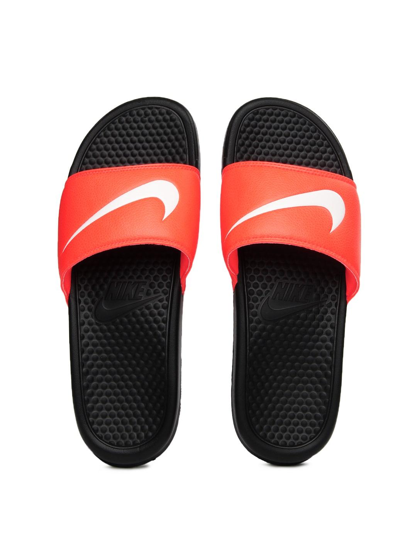 ac70dd1f0cca Nike 312618-819 Men Fluorescent Orange Benassi Swoosh Flip Flops- Price in  India
