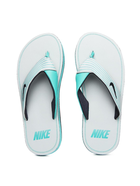 size 40 7876c 298cc Nike 636165-017 Men Grey Blue Chroma Thong Iii Flip Flops ...