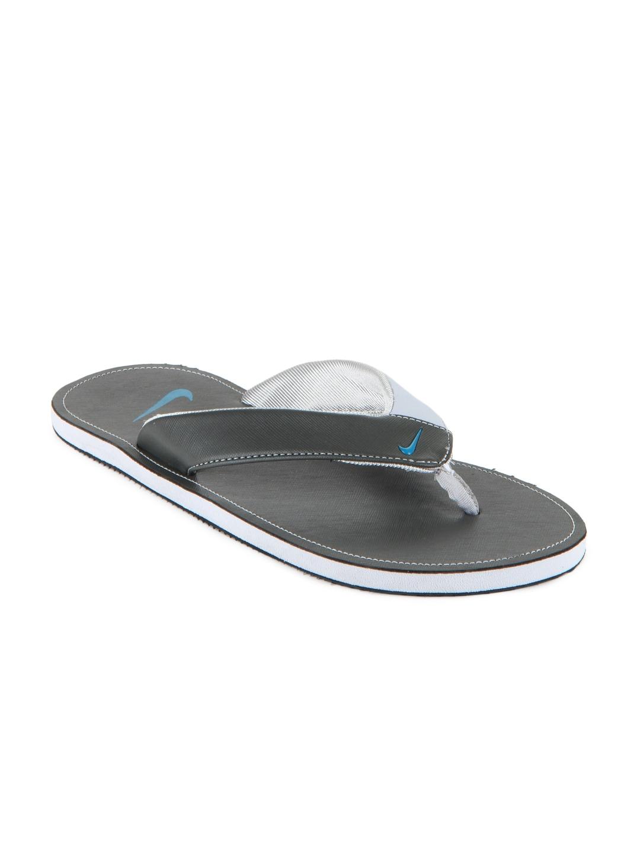 020b99c5a16aa Nike 518226-007 Men Black And Grey Chroma Thong Ii Flip Flops- Price in  India