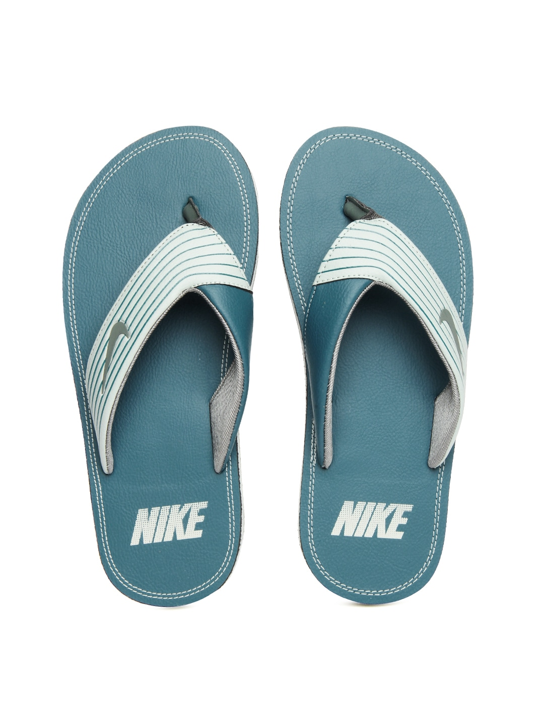Nike 636165-300 Men Teal Green Chroma Thong Iii Flip Flops- Price in India