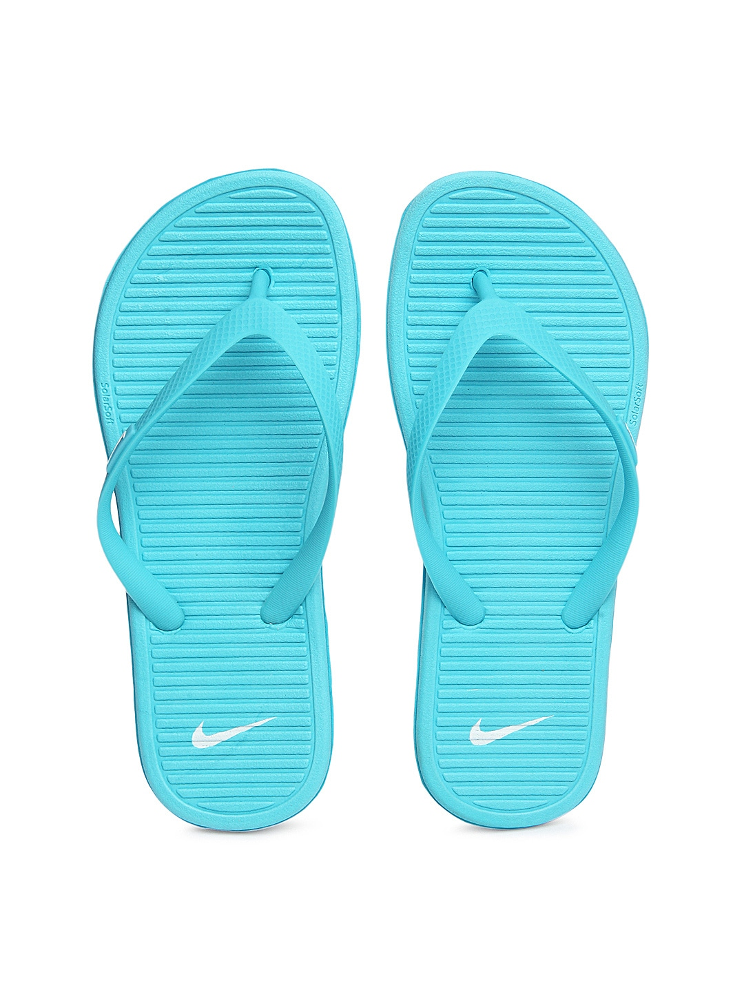56a393827cc6 Nike 488161-401 Women Light Blue Solarsoft Thong Ii Flip Flops- Price in  India