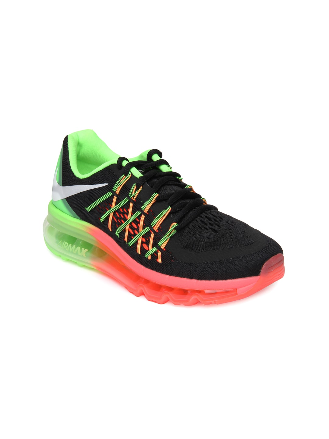 save off 260b0 6fe50 Nike 698903-005 Women Black Air Max 2015 Running Shoes- Price in India