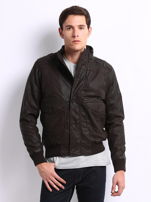 dbfc21cda1 Pepe nubug Jeans Men Black Nubug Faux Leather Jacket - Best Price ...