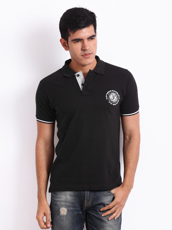 Zara black t shirt india - Pepe Zara Jeans Men Black Pique Polo T Shirt Price In India