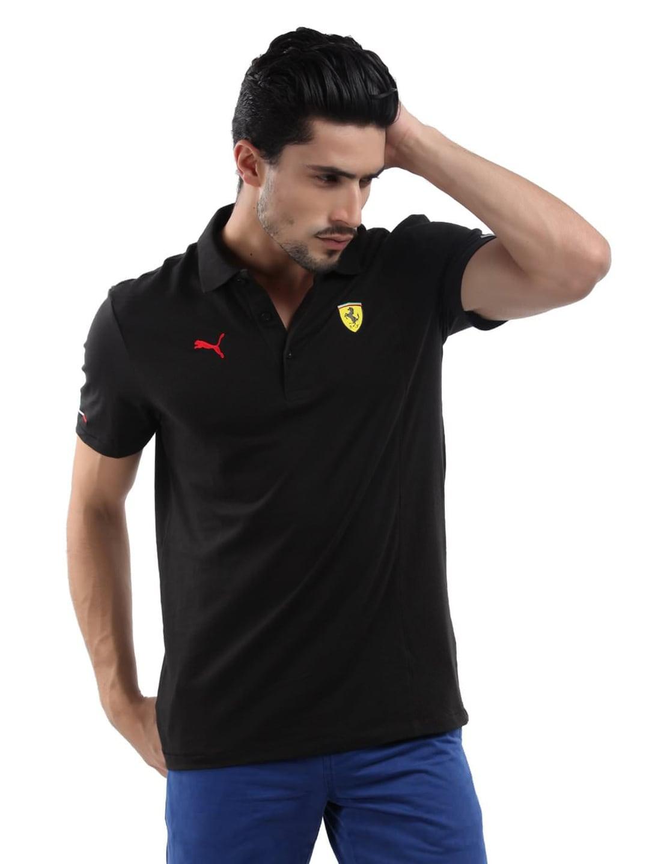 88489e70 Puma 76126801 Men Black Ferrari Polo T Shirt - Best Price in India ...