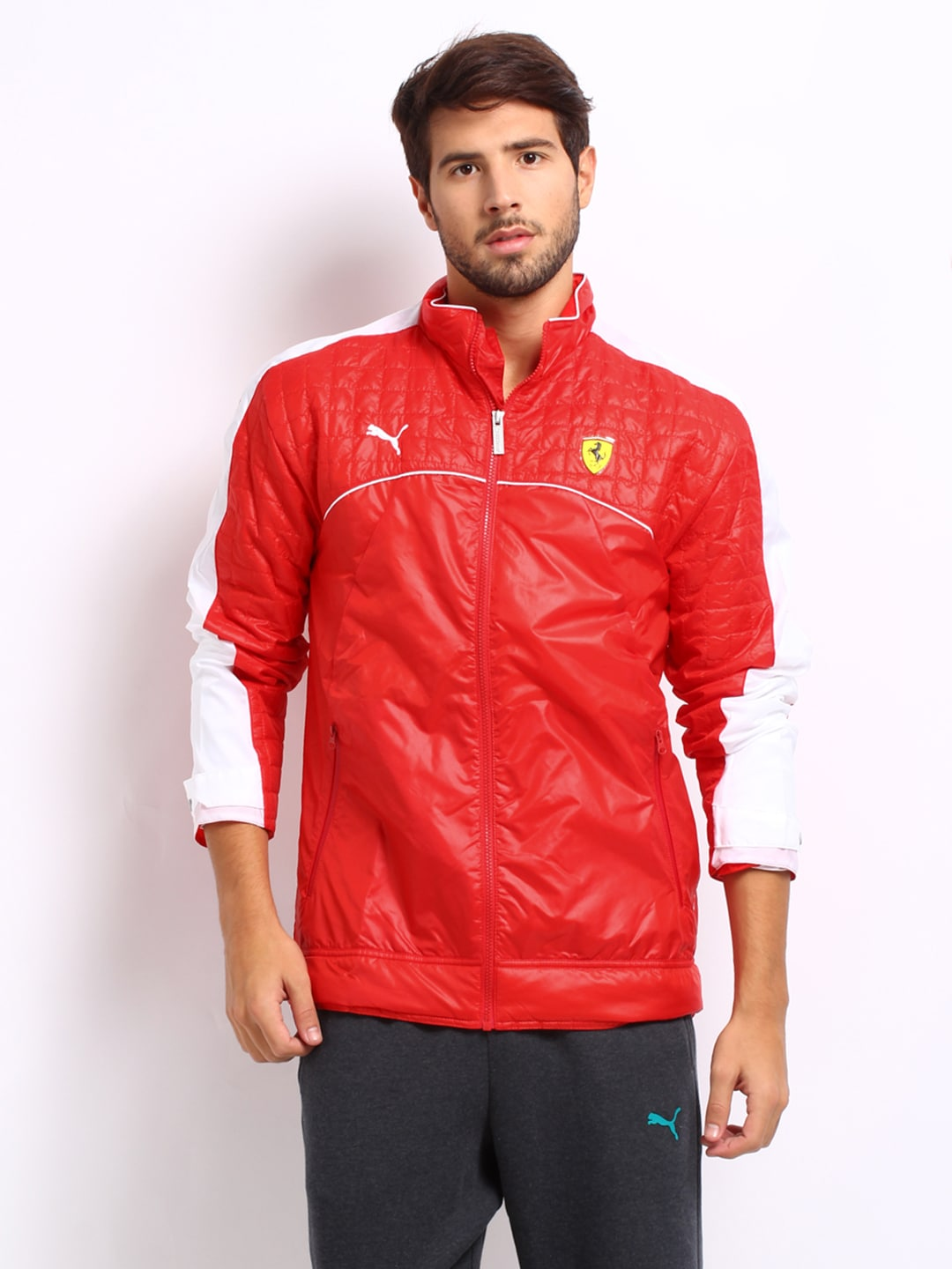 32b46d032d9da9 Puma 76138302 Men Red Ferrari Jacket - Best Price in India