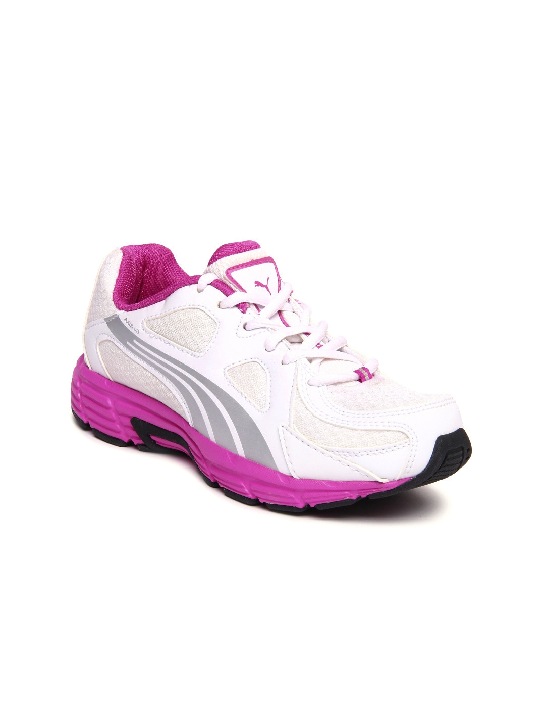 Puma 18763902 Women White Axis V3 Ind Sports Shoes - Best Price ... 36d4f9b514
