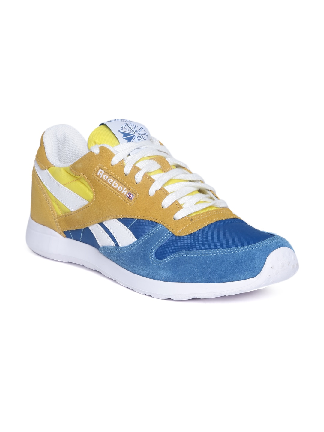 3e4a3cc0b Reebok m46114 Classic Men Blue Mustard Yellow Cl Leather Retro Lite Lp Casual  Shoes- Price in India