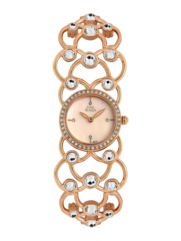 Titan Raga Women Garden of Eden Pearly Off-White Dial Watch 95006WM02J image