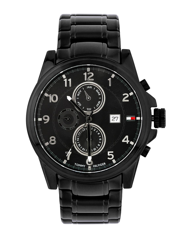 87ac2b5fba7b0e Buy Tommy Hilfiger Men Black Analogue Watch NATH1791104 - Watches ...