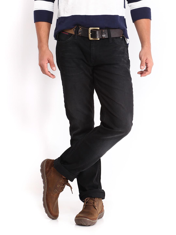 2240a69b Tommy hilfiger a4atd026 Men Black Scanton Bradfield Slim Fit Jeans- Price  in India