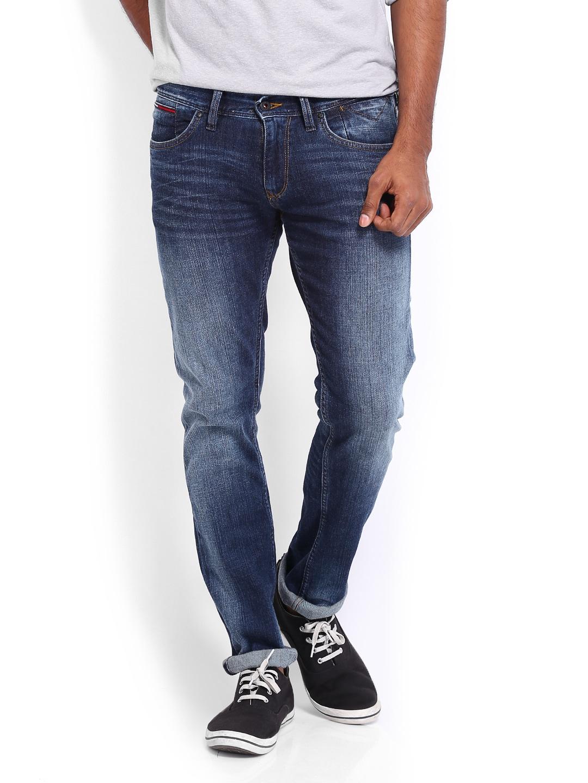 59059b3f Tommy hilfiger a4atd041 Men Blue Scanton Slim Fit Jeans - Best Price ...