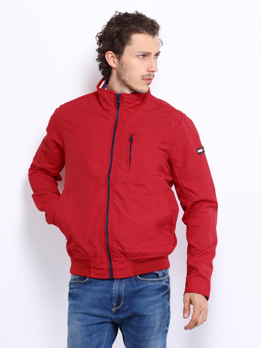 Tommy Hilfiger A4ato004 Men Red Bobby Jacket Best Price In India