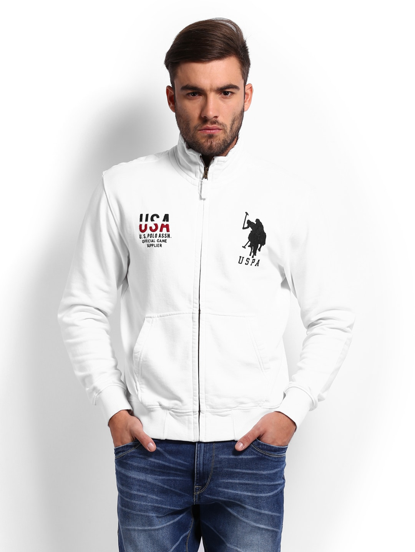 8a54a172 Us polo assn usss0188 U S Polo Assn Men White Sweatshirt- Price in India