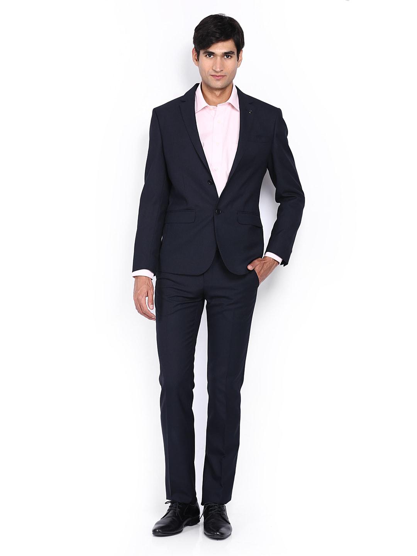 Van heusen vhsu1m00270 Men Navy Slim Fit Single Breasted Suit ...