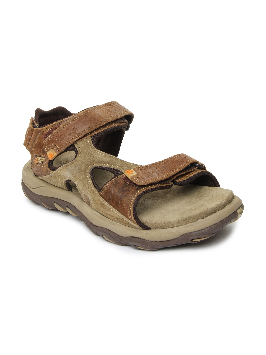 6ec16603bc8 Woodland gd-1129112w13-camel Men Brown Leather Sandals- Price in India