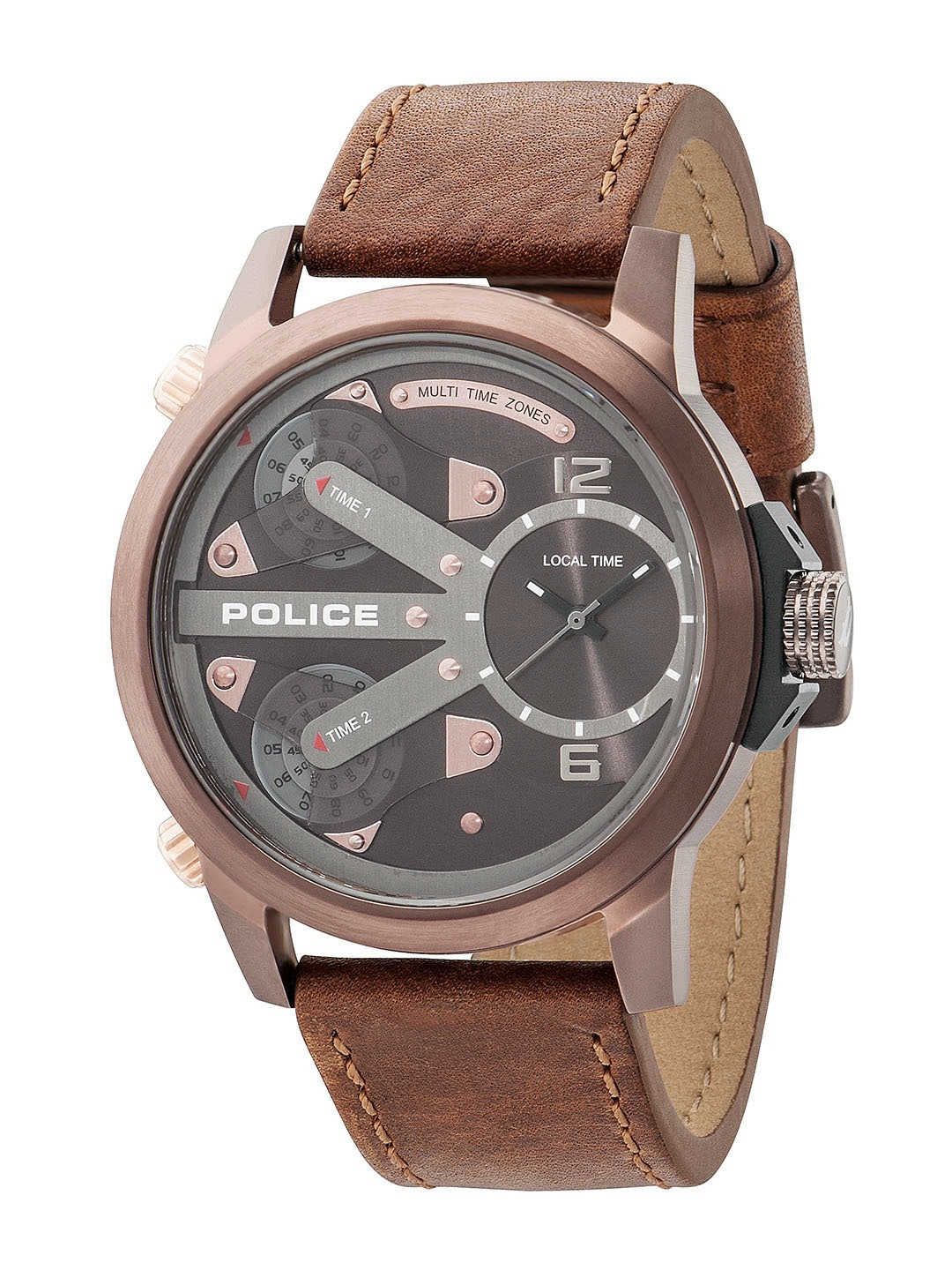 police watches buy police watches online in police men brown dial watch pl14538jsbn65aj