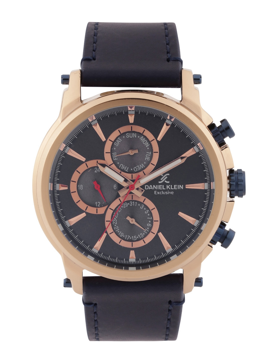 watches for men buy men s watches online in myntra daniel klein exclusive men charcoal grey dial watch dk11202 1
