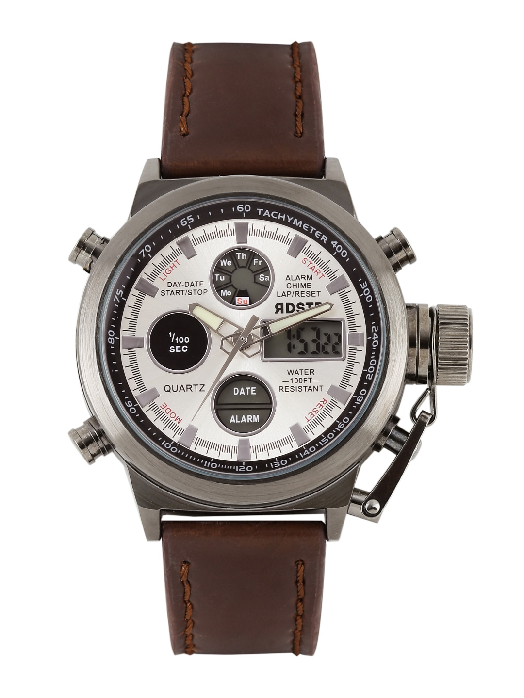 watches for men buy men s watches online in myntra rdstr men silver toned chronograph analogue digital watch mfb pn wth1601
