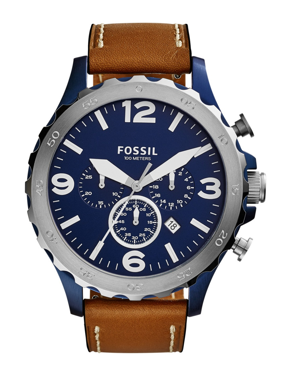 fossil watches buy fossil watches for men women online myntra fossil men navy chronograph watch jr1504i