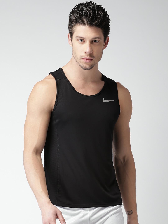 Zinc shirt design - Nike Men Black Self Design Round Neck As M Nk Dri Fit T
