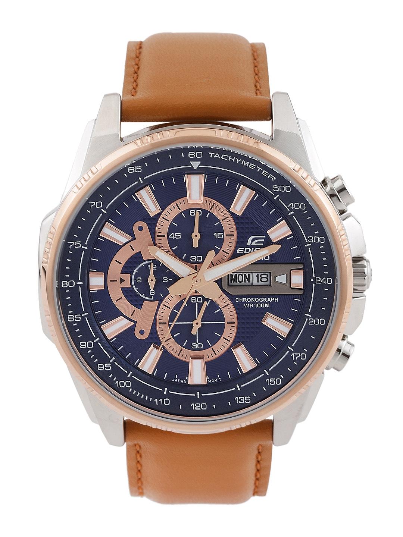 Casio Ex335 Edifice Men Blue Chronograph Dial Watch 26 November 2018 Efr 540d 1av