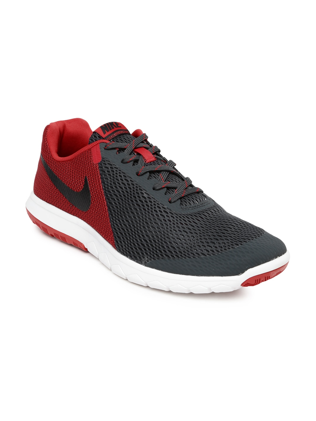 Nike Men Charcoal Grey  Red Flex Experience RN 5 Running Shoes price in India